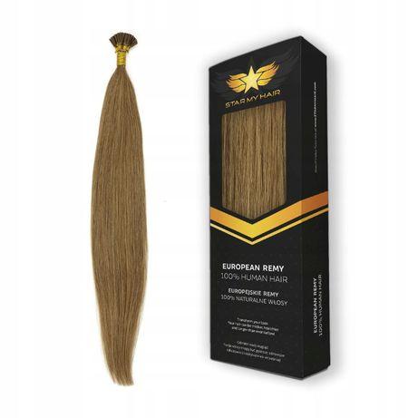 Pasemka KERATYNA RINGI włosy naturalne 50cm 20x0,5