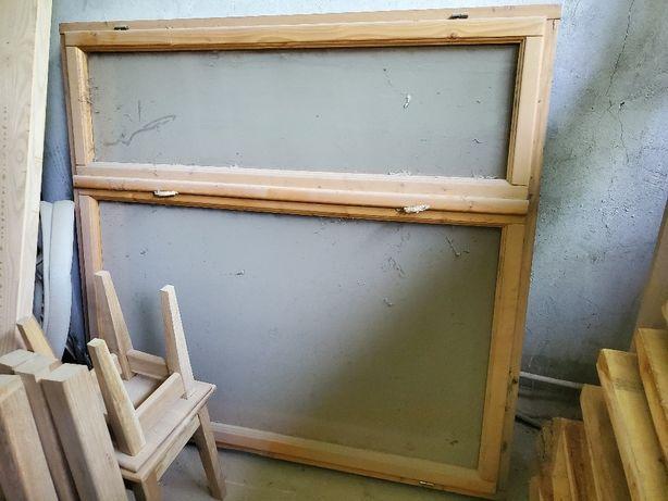 Продам окно, раму готовую деревянную стандартную.