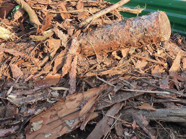 Odpady drzewne kora kawałki drewna trociny