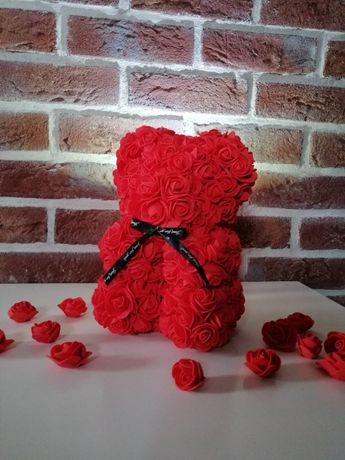 Miś z róż 25cm ! RoseBear, Prezent, dzień kobiet