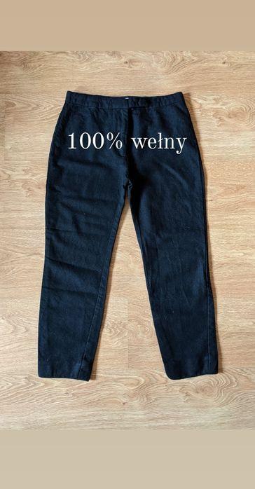 Czarne wełniane spodnie 3/4 Acne XXS XS wełna jakość Gdynia - image 1