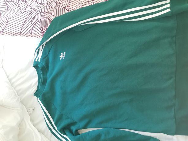 Sweat sem capuz adidas verde esmeralda