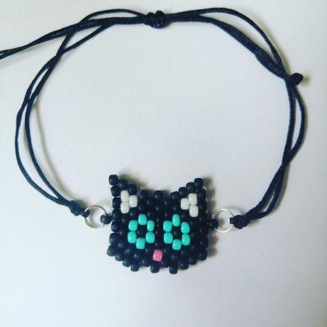 Bransoletka czarny kot