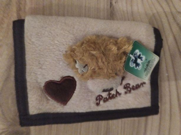 Portfel pluszowy portfelik z misiem My Patch Bear NOWY Okazja Tanio