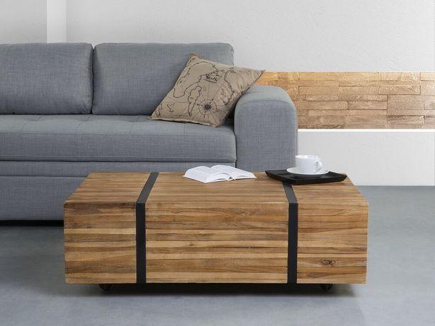 Mesa de centro em madeira de teca GANDER - Beliani