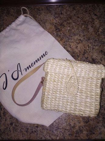 Jamemme стильная сумка из соломы на лето