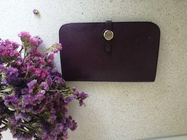 женский кошелёк hermes лиловый