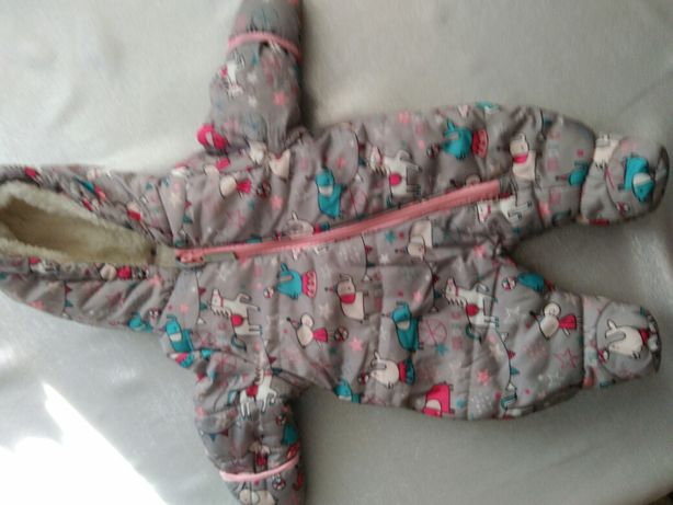 Kombinezon niemowlęcy zimowy roz 62 + czapka