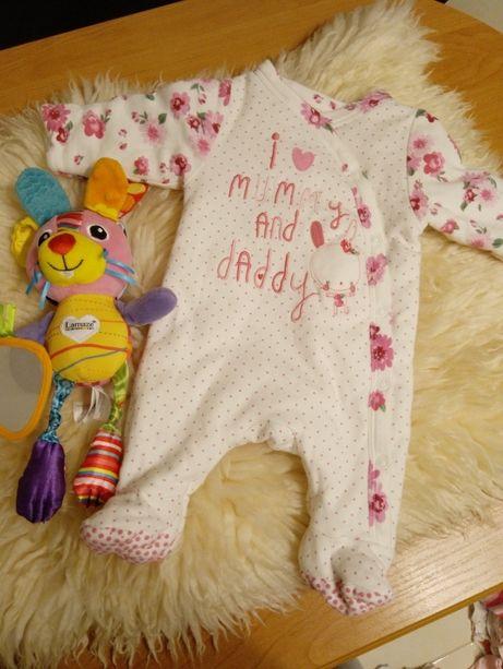 Kombinezon pajac dla dziewczynki niemowlaka r. 56