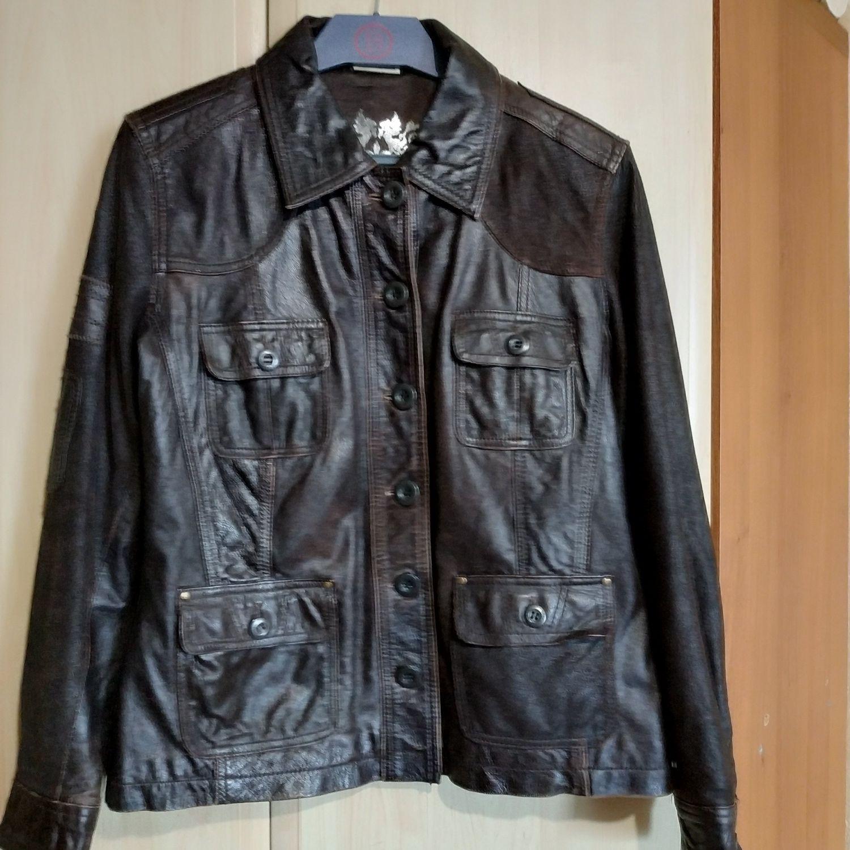 """Кожаная куртка """"Street One"""" Германия. Размер 46."""