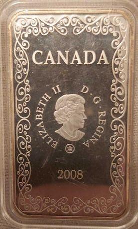 """Канада 15 долларов 2008 """"Валет червей"""", в футляре"""