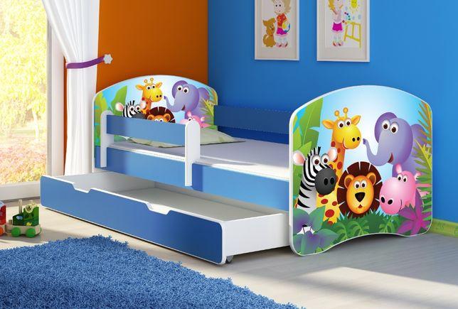 Łóżko, Łóżeczko dziecięce Niebieskie 140X70