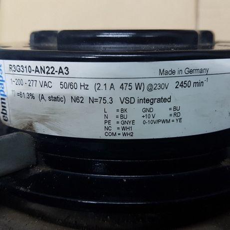 Вентиляторы центробежные EBMPAPST R3G310
