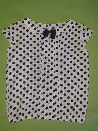 Аккуратная летняя блуза в школу девочке рост 140см в идеале