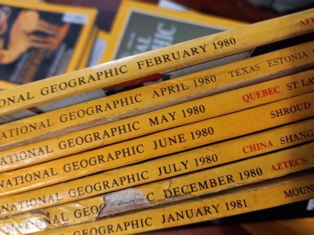 Revistas national geographic anos 80