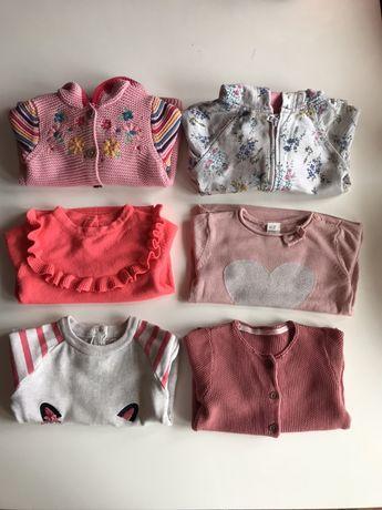 Paczka dla dziewczynki, ubrania na wiosnę, r. 86, 12-18 miesiecy