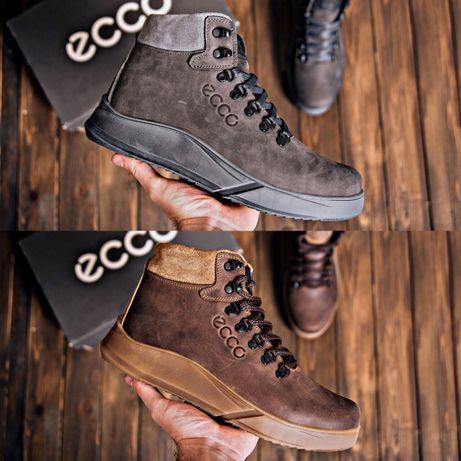 Мужские зимние кожаные ботинки Yurgen brown/grey Style