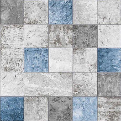 Tapeta ścienna do kuchni łazienki kafelki płytki glazura niebieska