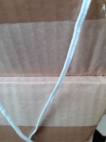 Gumka do odzieży/ 0,55gr / 3mm biała dziana/ biała/ gumka do masek/