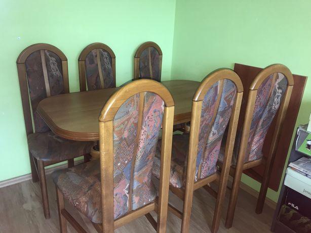 Ławo-stół z krzesłami