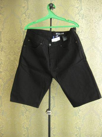 шорты джинсовые черные h&m 36