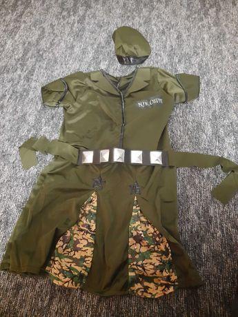 Stroj kostium bal karnawal dla dziewczynki 128 zolnierka