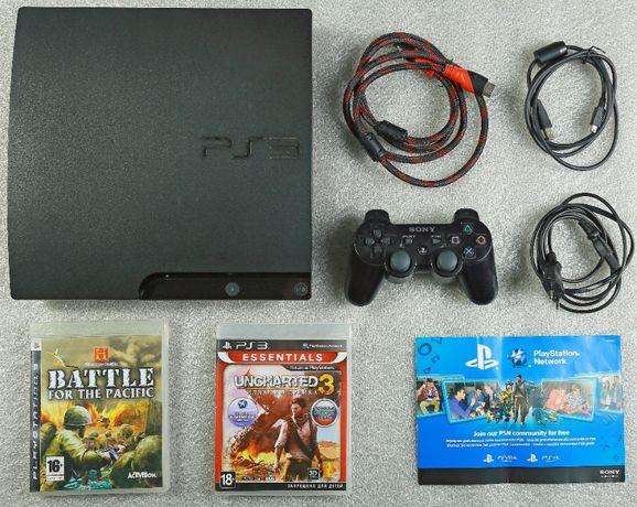 Приставка Sony PlayStation slim 3, PS 3 , з іграми.