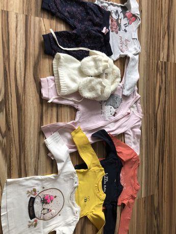 Komplet ubranek dla dziewczynki 46 sztuk, r. 56-68