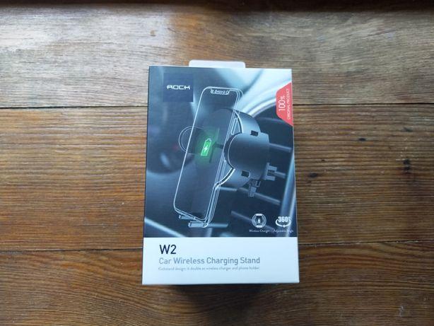 Rock W2 автомобильный держатель с беспроводной QI зарядкой