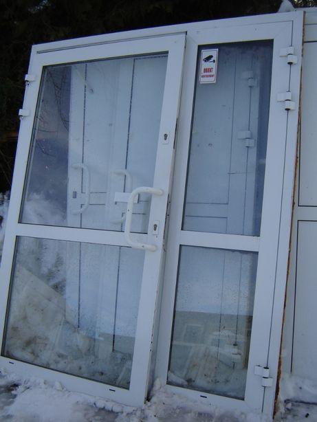 drzwi alum.zewn.szer. 185x215,przeszklone ,cieple