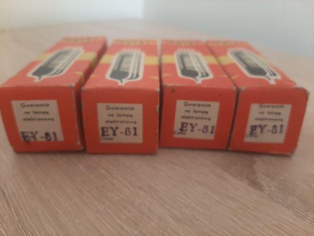 Lampy elektronowe EY-81 komplet 4 sztuki