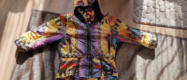 Elegancka kurtka narciarska snowboardowa kolorowa