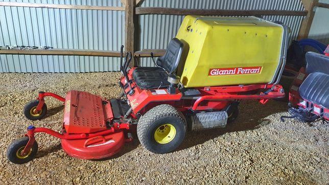 Kosiarka traktorek Gianni Ferrari kosz 2 cylindry benzyna zerowy skret