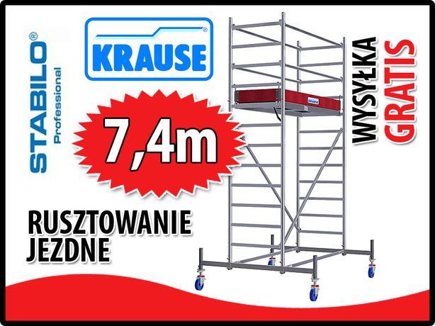 Rusztowanie aluminiowe jezdne Krause Stabilo 10. 0,7x2m wys.rob 7,4m