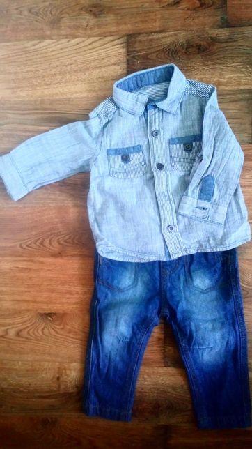 Komplet koszula spodnie 3-6