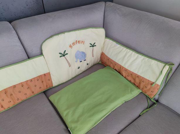 Ochraniacz do łóżeczka plus poszewka z wypełnieniem
