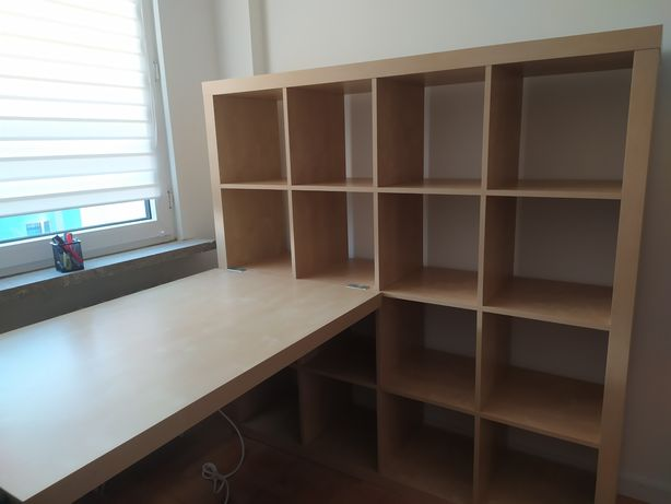 Sprzedam regał Kallax 4x4 z biurkiem