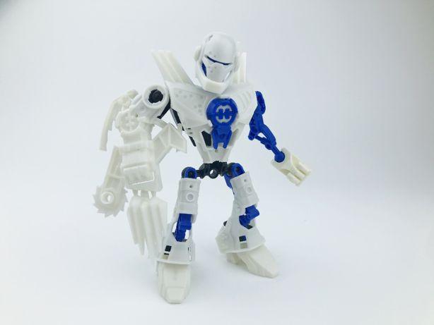 Лего Фабрика Героев белый робот-конструктор (аналог Lego Bionicle)