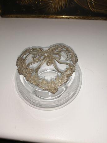 Стекляная ваза с оловянным мотивом Rawcliff Pewter