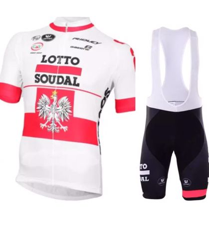 Strój rowerowy komplet kolarski Polska Lotto