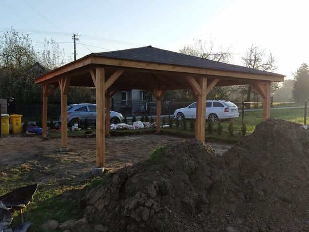 Wiata 6x5.5m Drewno klejone domki drewniane