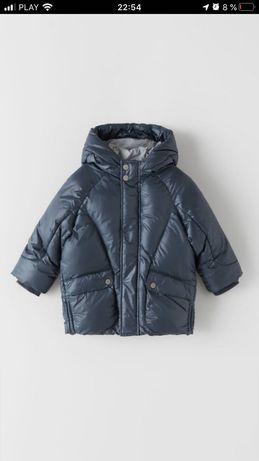 Zara ! Новая коллекция ! Теплая куртка пальто 80-98см