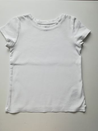 H&M Biała koszulka biały t-shirt bluzka na wf w-f szkoła szkolna
