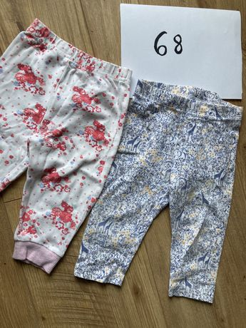 Spodnki - 7szt 62 getry 68 - wyprawka, ubranka dla dziewczynki