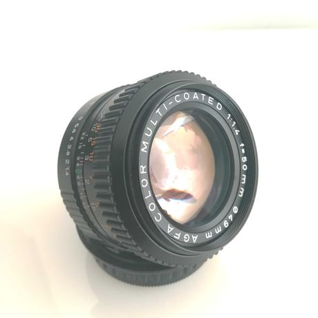 AGFA-COLOR 50mm F1.4 Prime Manual - Pentax PK - Impecável.