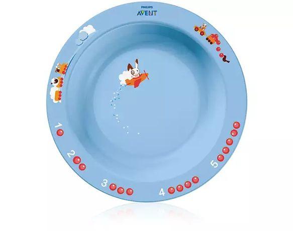 Посуда. Глубокая тарелка Philips AVENT от 12 мес. (НОВАЯ) Авент.