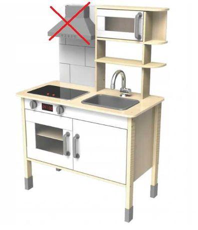 Zabawkowa drewniana kuchenka dla dzieci Eichhorn Niekompletna