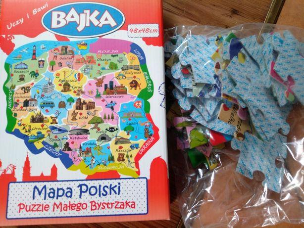 Mapa Polski w puzzlach dla dzieci