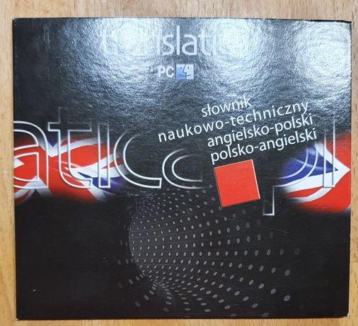 Translatica słownik naukowo-techniczny ang-pol pol-ang na CD