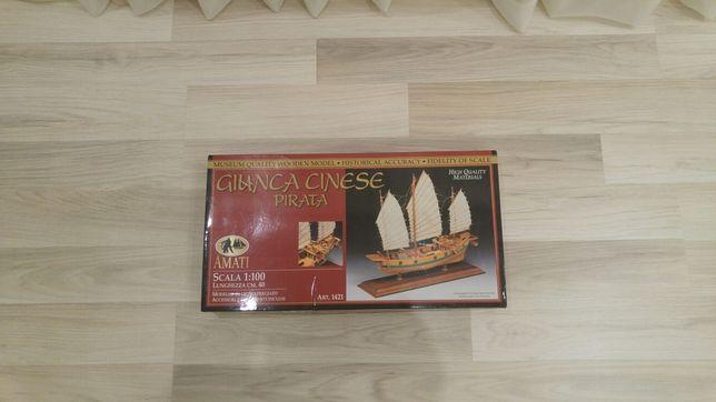 Сборная модель корабля парусника GIUNCA CINESE  PIRATE JUNK AMATI